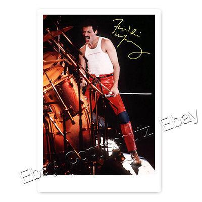 Freddie Mercury -  Autogrammfotokarte laminiert [AK3]