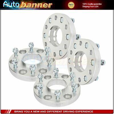 "4 pcs 1"" 6x5.5 12x1.25 studs wheel spacers for Nissan Armada Titan"