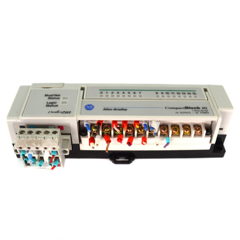 Allen-Bradley 1791D-0V16P DeviceNet Ser D Rev C01 Compact Block I/O PLC Module