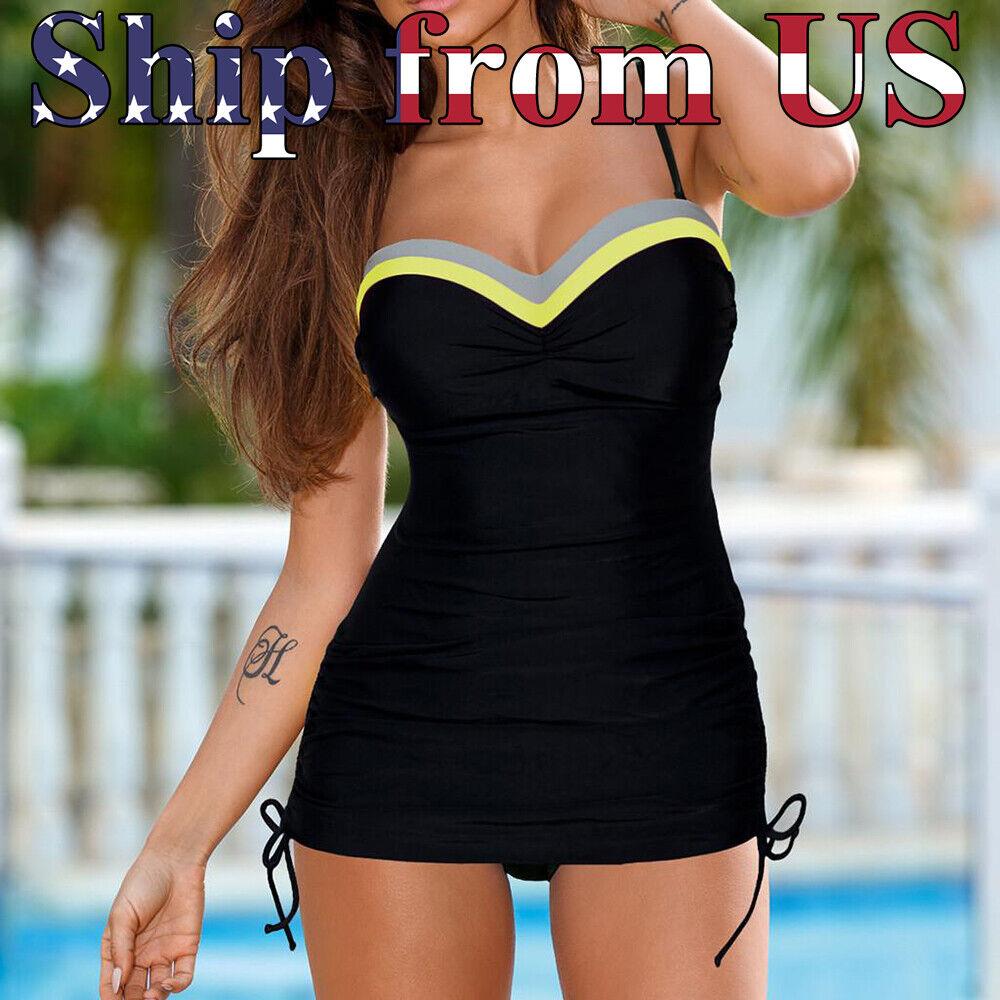 US One-Piece Swimsuit Bikini Swimwear Monokini Swimming Black Swim Suit Clothing, Shoes & Accessories