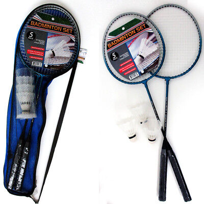 2 Badminton Rackets Tennis Set Trainning 3 Shuttlecocks Birdies Ball Sport Game