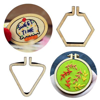 - Art Hand Stitching Cross-Stitch Frame Embroidery Hoop Pendants Necklaces Gift