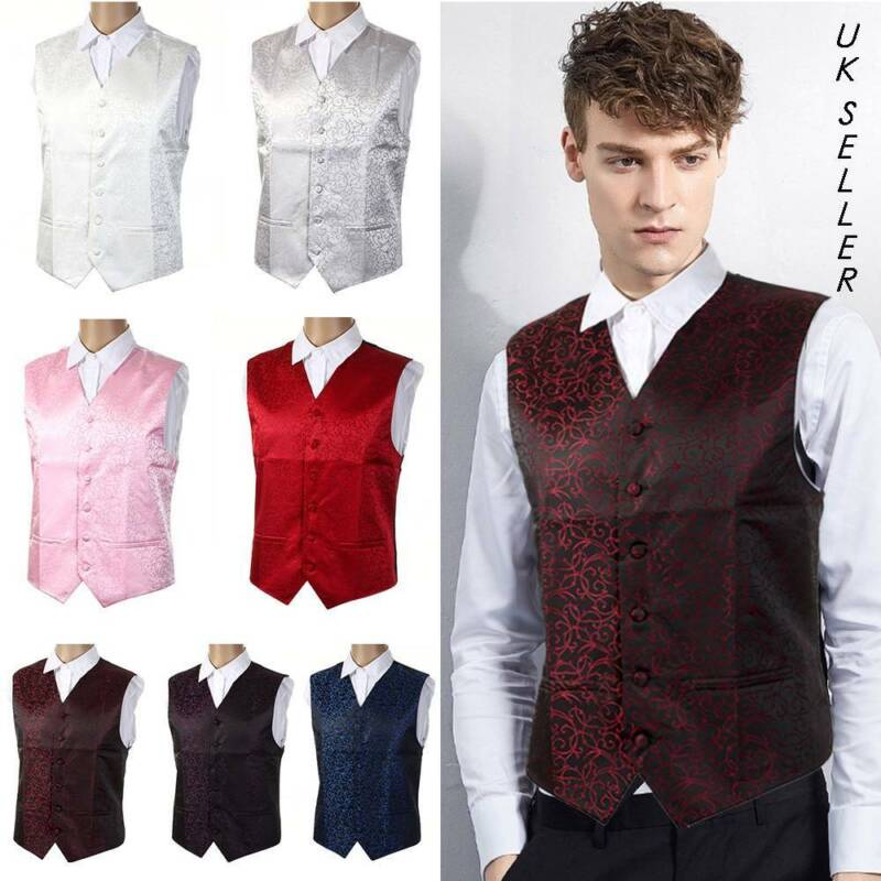 """Top Swirl Wedding Party Mens WAISTCOAT Chest Available S-5XL Size 36/""""-50/"""" UK"""