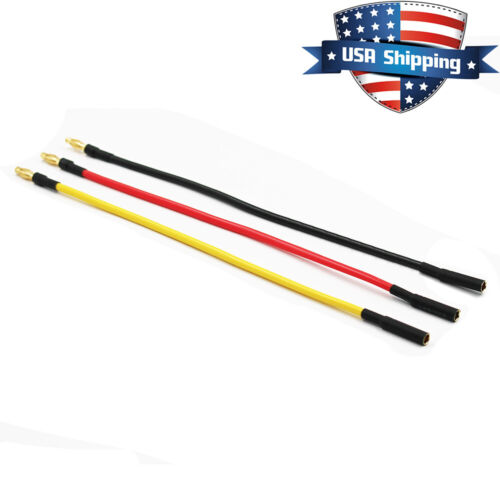 8in Brushless Motor ESC 4mm Bullet Connector Extension Wire 3-Wire 14AWG
