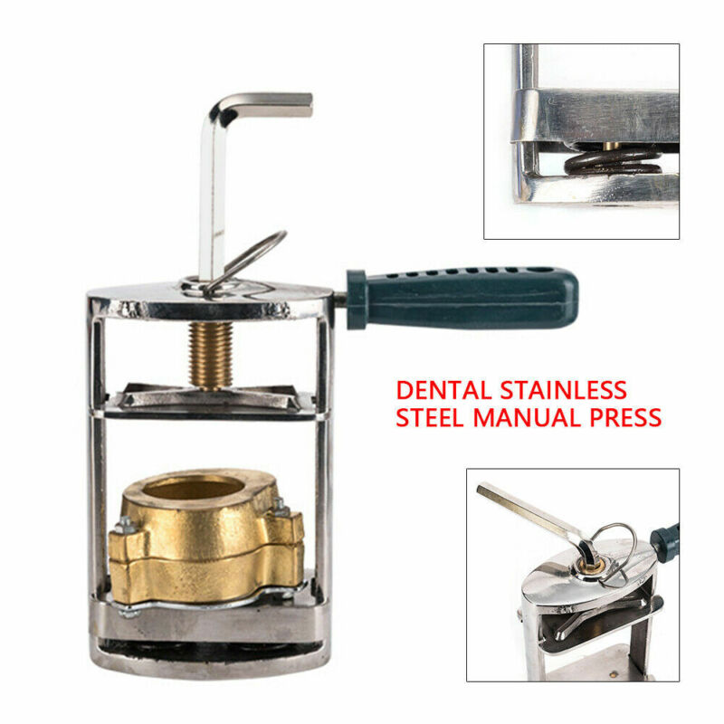 Manual Stainless Steel Dental Pressing Dental Model Machine f/ Dental Laboratory