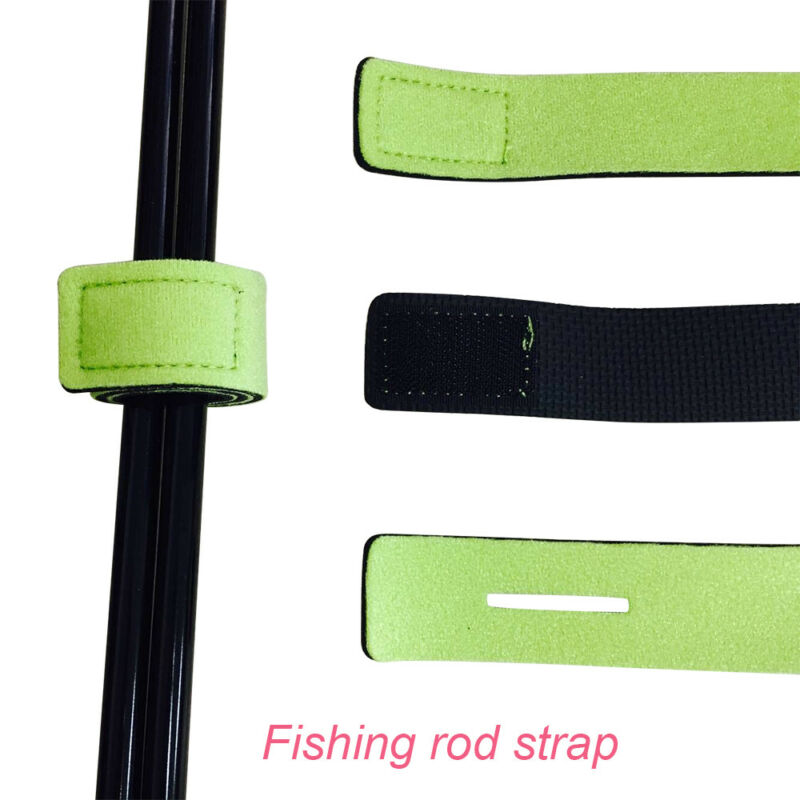 4pcs Fishing Rod Tie Belt Strap Elastic Wrap Band Accessories Pole Holder