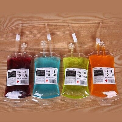 High Energy Halloween (Festive High Props Reusable Energy Drink Food Vampire Bag Blood Bottle)