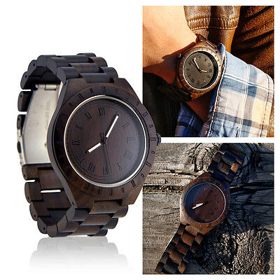 Men's Luxury Wristwatch Casual Wooden Quartz Watches Fashion Natural Wood Watch for sale  Shipping to India