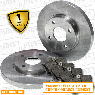 Rear Brake Pads + Brake Discs 246mm Solid Peugeot Partner Tepee 1.6 1.6 HDI 16V