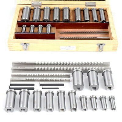 22pc Keyway Broach Kit Metric 44568mm Broach Ferrule Bushing Gasket Set