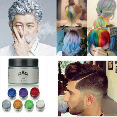 7 Colors Disposable Hair Color Wax Mud Dye Styling Cream DIY Coloring Safe (Good Moustache Styles)