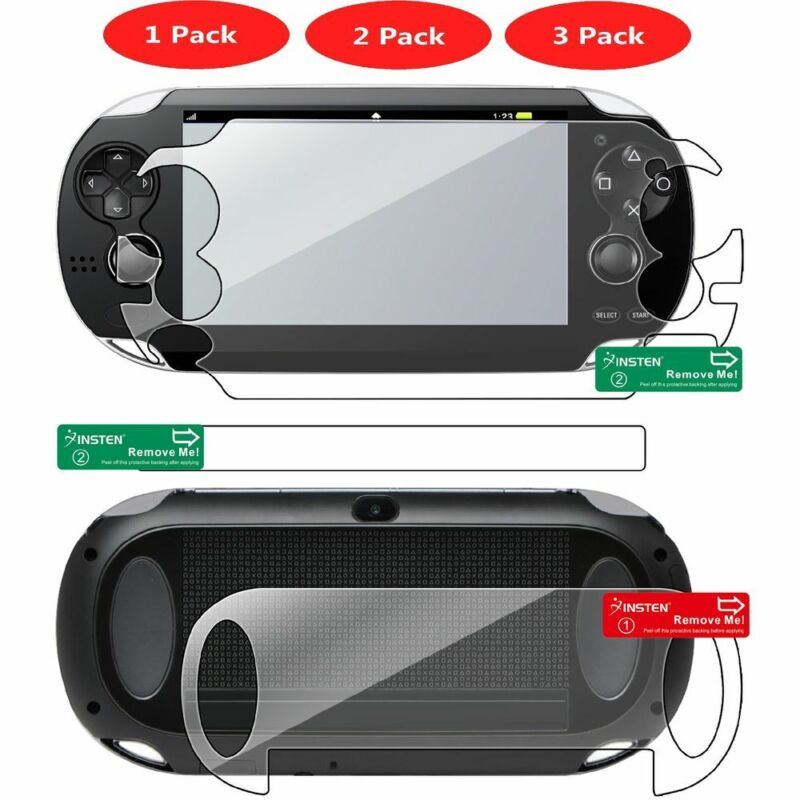 Full Body Front Back Clear Screen Protector For Sony PlayStation Vita PCH-1000