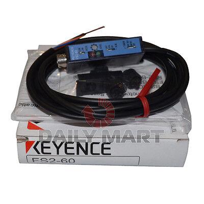 Keyence Fs2-60 Fs260 Fiber Amplifier Cable Type Optic Sensor New