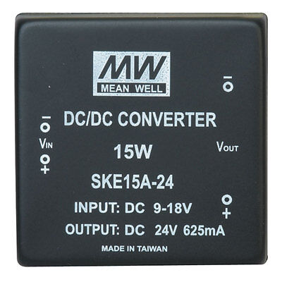 Mean Well Ske15a-24 Power Supply Encapsulated Dc-dc 1 Output 24 Volt 0.625a 15w