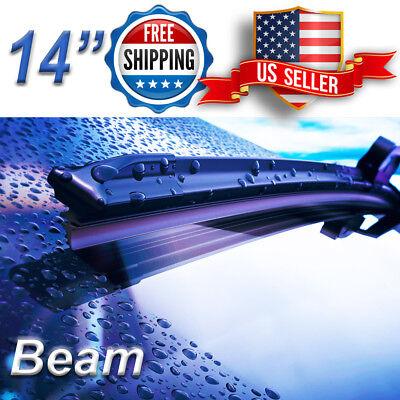 14 Inch Wiper Blades All Season Bracketless Windshield J-HOOK Beam Style ()