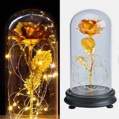 Beauty And The Beast Decor (US Beauty And The Beast Enchanted Rose Glass Dome LED Lighted Wedding Decor)