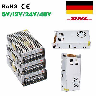 Schaltnetzteil DC 5V/12V/24V/48V Netzteil Trafo LED Strip Power Supply 22 Types Dc Power