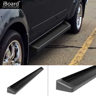 """6"""" Black iBoard Running Boards Fit 05-15 Nissan Frontier Crew Cab"""