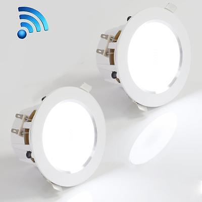 Pyle Pdicbtl35 Bluetooth 2 Way Aluminum Frame 3 5  Ceiling Wall Speakers  Pair