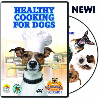 DVD VIDEO COOK BOOK FOR DOG LOVERS-MAKE HEALTHY FOOD AND TREATS-COOKING FOR DOGS