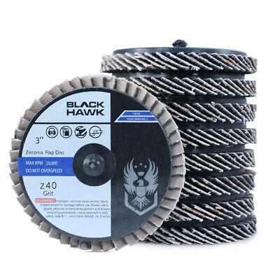 10 Pack - 3 Mini Flap Discs 36 Grit Quick Change Sanding Roloc Style Type R