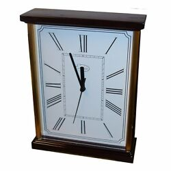 Easton Stand-up clock - Glossed Cherry and Brass