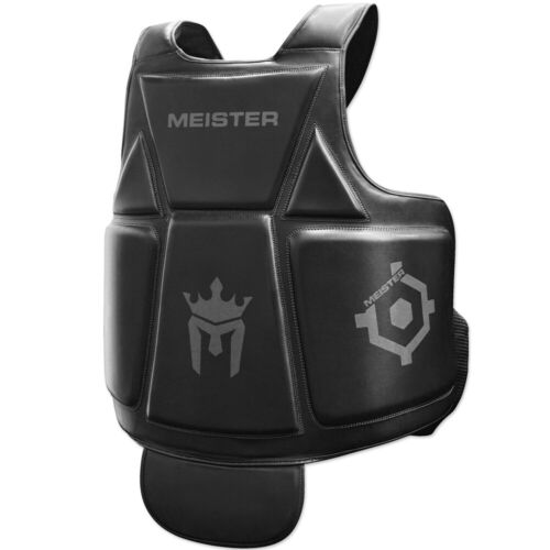 MEISTER BODY ARMOR - MMA & BOXING CHEST GUARD w/ Groin Protector Belly Pad ADULT