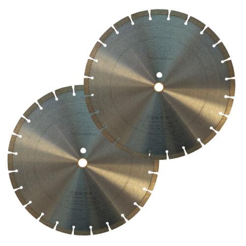 "2 Pack 14"" General Purpose Segmented Diamond Saw Blade for Concrete & Masonry"