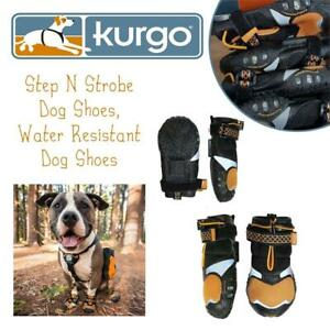 NEW Kurgo Step N Strobe Dog Shoes, Water Resistant Dog Shoes, Dog Boots For All Seasons, Dog Snow Boots, Anti Slip Do...