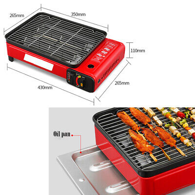 Portable Smokeless BBQ Gas Grill Stove for Barbecue Home Outdoor Stainless Steel