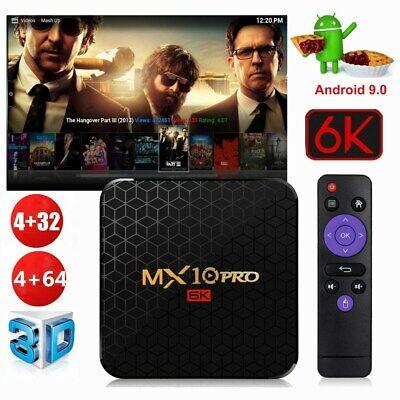 MX10 Pro Smart TV Box 4GB+64GB Android 9.0 Quad Core 6K Media Player USB3.0 N9J4