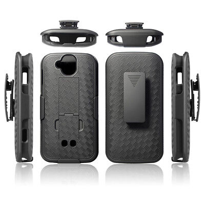 Kyocera Duraforce Pro (E6810, E6820) Black Kickstand Case with Belt Clip Holster