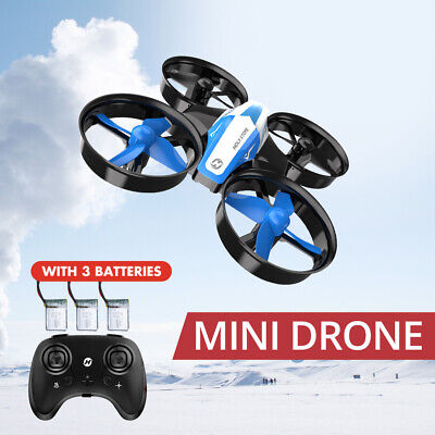 Holy Stone HS210 mini drone for kids auto hover full protection 3 batteries gift