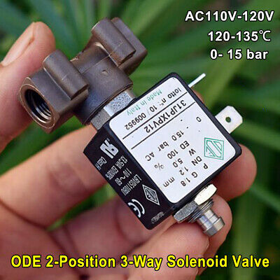 Ode Ac110v 120v Electric Solenoid Valve High Temp For Coffee Machine Steam Water