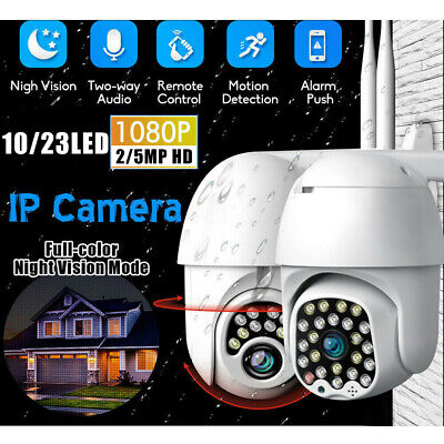 5MP Outdoor Waterproof WiFi PTZ 1080P HD Security IP CCTV IR Camera Night Vision