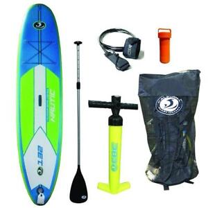 NEW California Board Company 11 Nautic Inflatable Stand up Paddle Board with Pump, Paddle