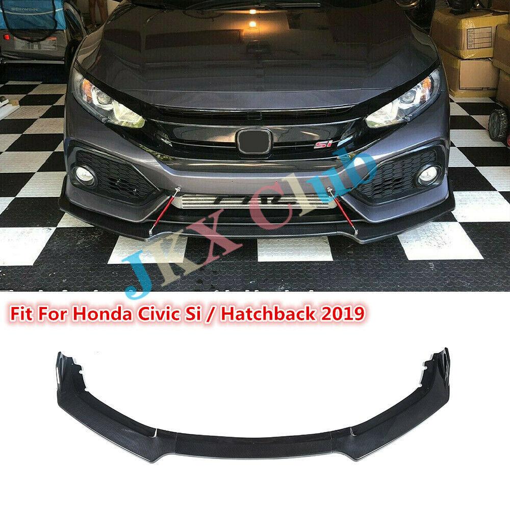 Carbon fiber Front Bumper Upper Grill Cover Trim for Honda Civic 10th 2016-2019