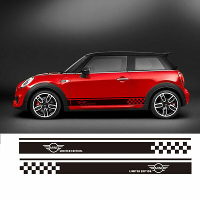 READ Sticker Limited Edition Graphic Stripe Side Door Decal for Mini Cooper USA