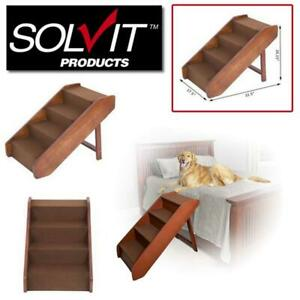 NEW Solvit Foldable Steps for Dogs  Cats, Brown, X-Large Condtion: New, X-Large