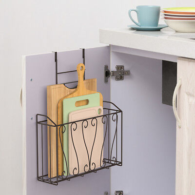 Chooping Board Rack Shelf Kitchen Organizer Holder Over the Cabinet Door