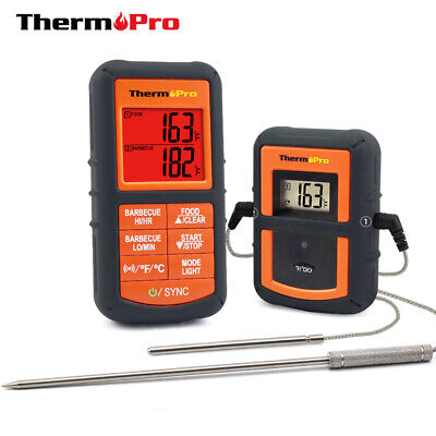 ThermoPro TP-08S Wireless Remote Meat Thermometer w Dual Probe BBQ Smoker -