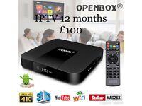 OPENBOX VX IPTV Box WIFI + 12 Month's Gift + Stb Emu Pro