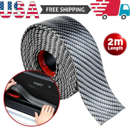 2M Accessories Carbon Fiber Car Door Plate Sill Scuff Cover Anti Scratch Sticker Car & Truck Parts