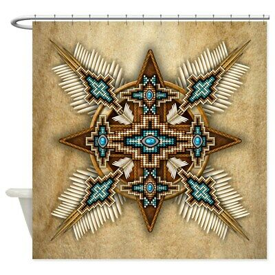 CafePress Native American Style Mandala 26 Shower Curtain