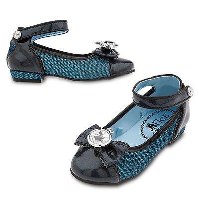 Alice In Wonderland Dress Up (Disney Store Alice in Wonderland Dress Up Costume Shoes Girls Size 9/10 11/12)