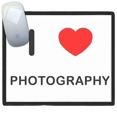 I Love Photography - Thin Pictoral Plastic Mouse Pad Mat Badgebeast