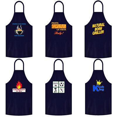 Männer Geschenk Lustige Sprüche Partyschürze Grillschürze Kochschürze BBQ Blau - Bbq, Lustige Schürze