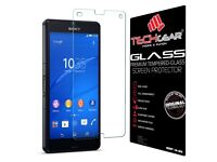 Sony Xperia Z3 Compact – Tech Gear Glass Edition Premium Tempered-Glass Screen Protector – BRAND NEW