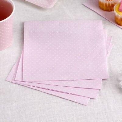 Papierserviette Polka Dots zartrosa 16 St. Serviette Hochzeit Hochzeitsserviette