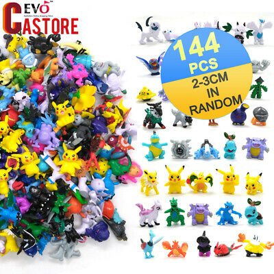 144pcs Pokemon Monster Figures Toys Mini Pikachu Mixed Gift Toys 2-3cm Random
